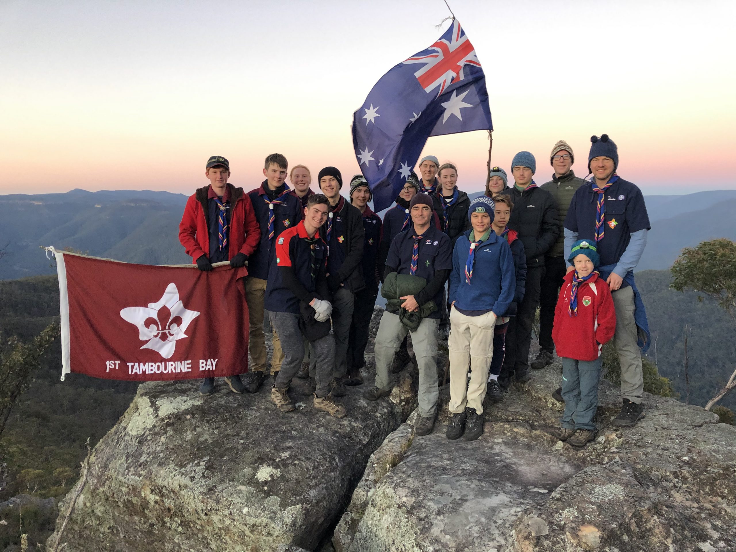 Tambourine Bay Hikes to Splendour Rock in the Blue Mountains for ANZAC Day Dawn Service